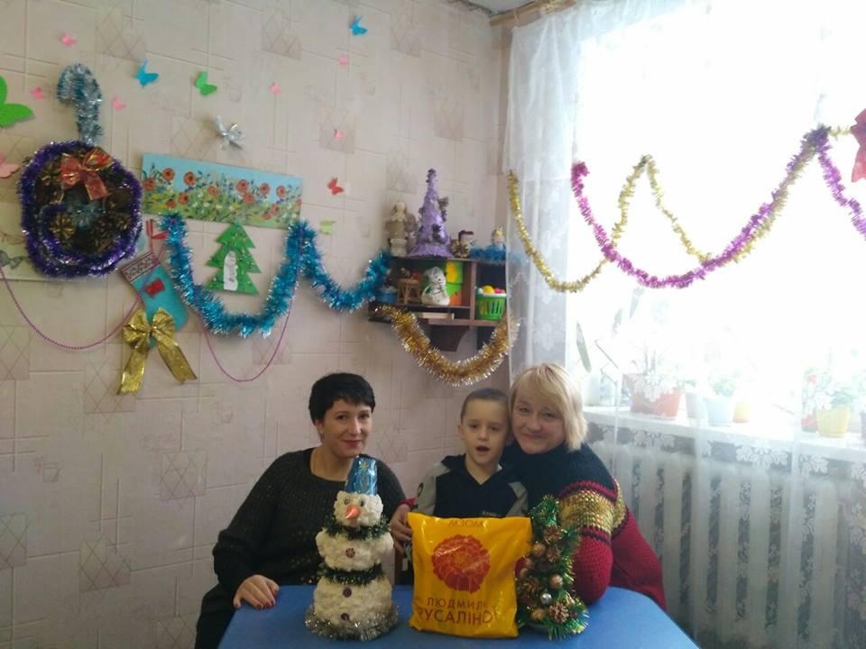 Малеча інклюзивно-ресурсного центру Золотоноші отримала подарунки