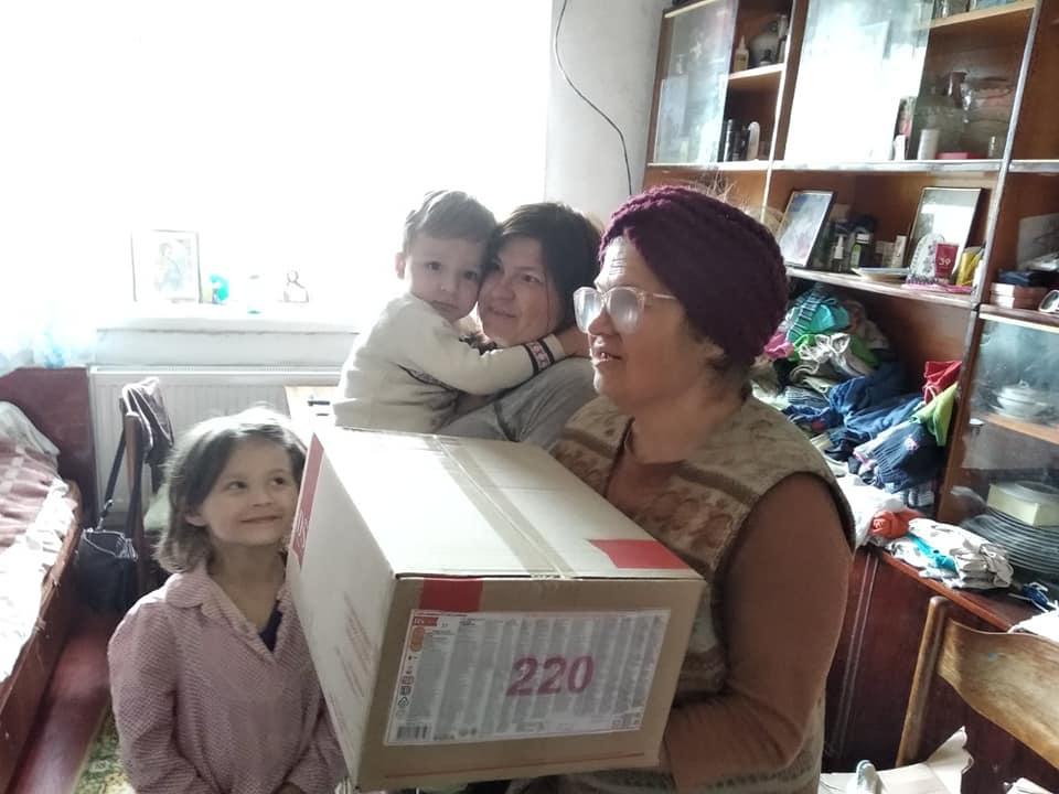 Багатодітні родини отримали подарунки до Ведикодня